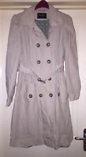 Atmosphere Belted Mac Jacket Coat In Stone Size 10
