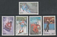 Laos - 1992, Winter Olympic Games, Albertville (1992) set - MNH - SG 1276/80