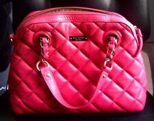 AUTH KATE SPADE GOLD COAST GEORGINA QUILTED LEATHER SATCHEL PURSE $398 HOT PINK