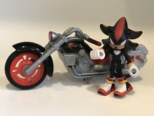 "SONIC THE HEDGEHOG SHADOW 3"" Jazwares Action Figure & MOTORCYCLE Bike LOT HTF"