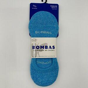 Bombas Women's No-Show Lightweight Socks Light Blue Ocean 1CN0124 Size M/8-10.5