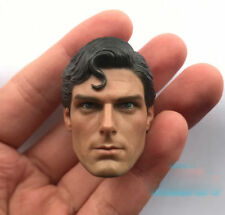"""Superman Christopher Reeve 1/6 Head Sculpt Model Fit 12"""" Action Figure Doll Toy"""