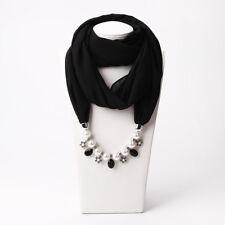 Women Pearl Pendant Head Scarves Wrap Chiffon Muslim Cap Islamic Hijab Muffler