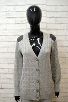 Maglione STEFANEL Felpa Grigio Donna Taglia L Pullover Sweater Cardigan Lana