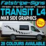 FORD TRANSIT MK8 L4 EXLWB GRAPHICS STICKERS STRIPES DECALS CAMPER VAN MOTORHOME