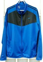 Men's Nike Full Zip Track Jacket Blue Size XL