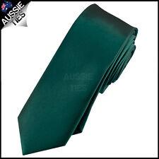 MENS FOREST DARK GREEN SKINNY 5CM TIE necktie thin narrow slim