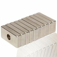 10pcs Super Strong Block Magnets 20 x 10 x 4mm Hole 4mm Rare Earth Neodymium N50