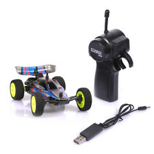 1/32 2.4G USB Rechargeable Mini RC Racing Car Toy W/Remote Control Blue NEW
