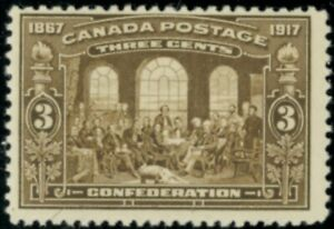 Canada  Stamps #135 mnh brown 3 cent FVF