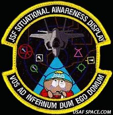 USAF 461st FLTS JSF Situational Awareness Disaplay South Park ORIGINAL VEL PATCH
