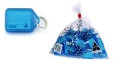 Kevron Key Ring Tags - Blue - Bag of 50 - FREE SHIPPING !!