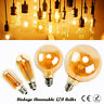 Vintage Ampoule LED Filament Ambre à Variation Lampe Industriel Clair A+