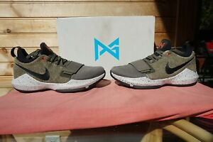 "2017 Nike PG 1 Elements ""Medium Olive Black"" Size 9.5 (2955) 911085-200"