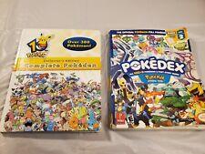 Pair Of 2 Pokemon Pokedex 10th Anniversary And Vol. 2