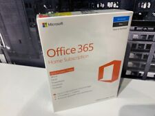 Microsoft Office 365 Home 5 PCs or Macs 1 Year Word Excel Outlook PowerPoint