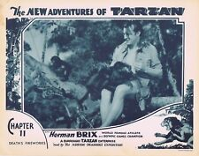 NEW ADVENTURES OF TARZAN 1935 Herman Brix Chapter 11 VINTAGE SERIAL Lobby Card 2