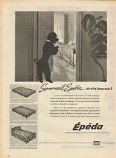Publicité 1960  Matelas EPEDA sommier literie sommeil confort