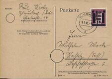Lokal Glauchau 5b als EF auf Postkarte nach Rößlitz (B07079)