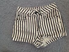 "Topshop Moto W25"" Ladies Stretch Cotton.Hot pants Shorts. Summer Festival. S6."