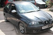 2006 SEAT IBIZA FR 1.9 TDI ENGINE BLT, BLACK LC9Z, 3 DOOR, WHEEL NUT, BREAKING