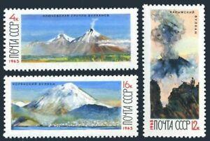 Russia 3117-3119,lightly hinged.Michel 3138-3140. Kamchatka Volcanoes,1965.