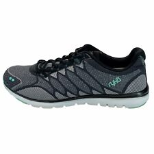 Ryka Womens Celeste Black Gray Mint Running Shoes Lace Up Low Top Size 10 M