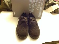 SALVATORE FERRAGAMO Brown Rover Suede Chocolate Lace Up SHOES BRAND NEW 10.5