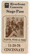 EARTH, WIND & FIRE  1976 Stage Pass Cincinnati KOA