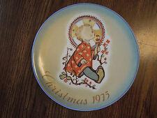 "Berta Hummel Christmas Child Porcelain Plate 1975-Schmid, W.Germany-Mint 7 3/4"""