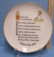 Vintage Holly Hobbie Mothers Day 1973 Collectors Plate