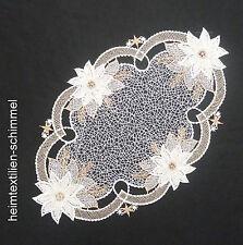 Plauener spitze Tischdeckchen Weihnachten Deckchen Tischdecke Stern 30x20cm