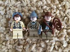 3 Lego Indiana Jones Minfigures Plane Pilot Henry Sr. Grandpa Lot 3 7628 7198