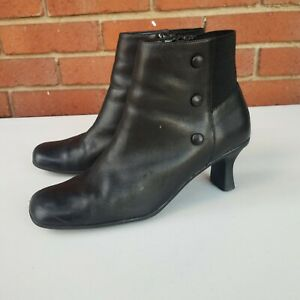 Vintage Square Toe Leather Boots Size 9