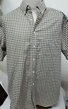 Men's Towncraft Wrinkle Free ~ Cotton Blend ~ S/S Shirt ~ Large ~ Tan Brown