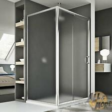 SHOWER ENCLOSURE CUBICLE 800X1000MM STIPPLED GLASS SLIDING DOOR FIXED PANEL
