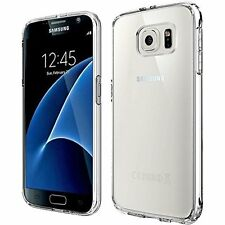 Tpu Crystal Clear Gel Case and Glass Screen Protector for Samsung Galaxy S7 Edge