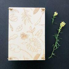 Herbier en bois brut presse à fleurs à feuilles plantes traditionnnel herbarium
