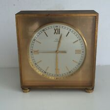 Heavy OMEGA Vintage Clock 8 Day 20 Jewel Desk or Mantel 4 pounds AS FOUND 5 1/4""