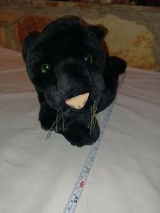 F.A.O Schwarz Stuffed Animal Plush Lying Black Panther