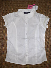 Nwt Girls Izod White Button-Down School Uniform T-shirt - size Xs (6/6X)