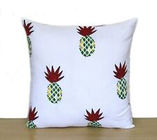 """Red Pineapple 16"""" Indian Printed Hand Block Cushion Covers Pillows Case Covers"""