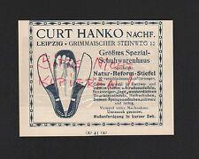LEIPZIG, Werbung 1908, Curt Hanko Nachf. Spezial-Schuhwarenhaus