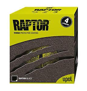 Upol Raptor Black/White/Tintable Protective Coating 4 Bottle Kit - Bed Liner