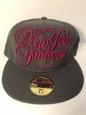 New Era Cap New York Yankees size 7 3/8 - VINTAGE, VERY RARE & UNIQUE, NEW