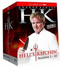 HELLS KITCHEN SEASON 1,2,3,4,5,6,7,8,9,10 R1 DVD SET 29 DISC GORDON RAMSAY