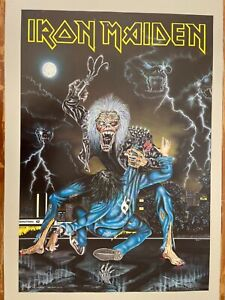 IRON MAIDEN, NO PRAYER ON THE ROAD BY IRILLI, MEGA RARE AUTHENTIC 1992 POSTER