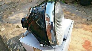 "LUCAS Genuine Vintage 7"" Motorcycle headlamp complete. Triumph Norton Bsa etc"