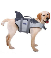 L.D.DOG Shark Life Jacket Small Pet Grey Gray