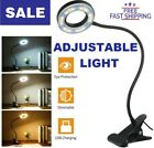 USB Rechargeable Clip On LED Reading Light Office Working Desk Table Lamp Lights